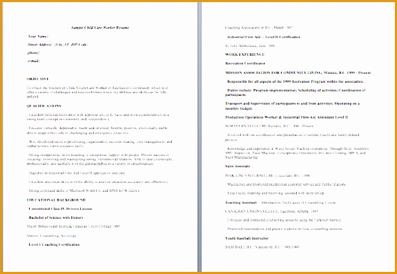6 Child Care Resume Sample Free Samples Examples