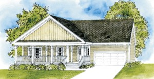 new hope elevation with porch