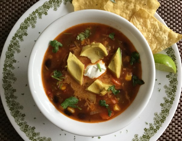 Mexican vegetarian soup