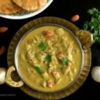 Vegan Mushroom Masala Curry with Coconut and Almonds