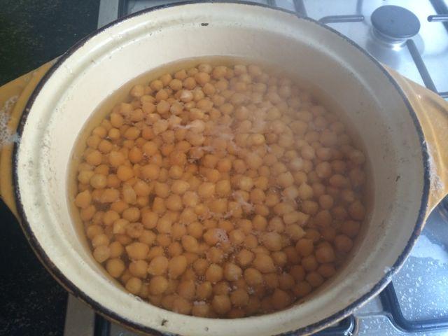 koken met kikkererwten