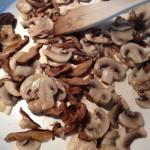champignons samen met shiitakes