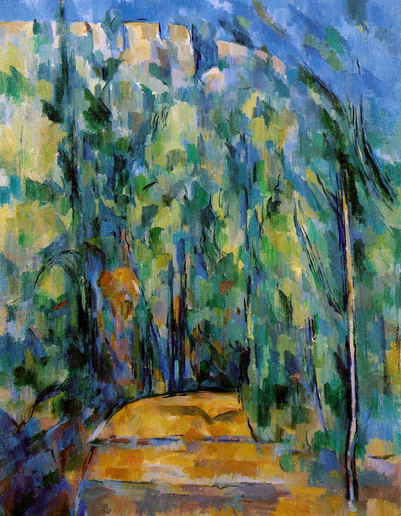 PAUL CÉZANNE - BEND IN FOREST ROAD, 1902-06.