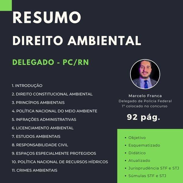 Resumo de Direito Ambiental - Delegado PC/RN