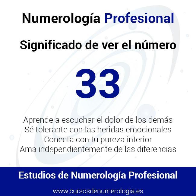 significado de ver el número 33