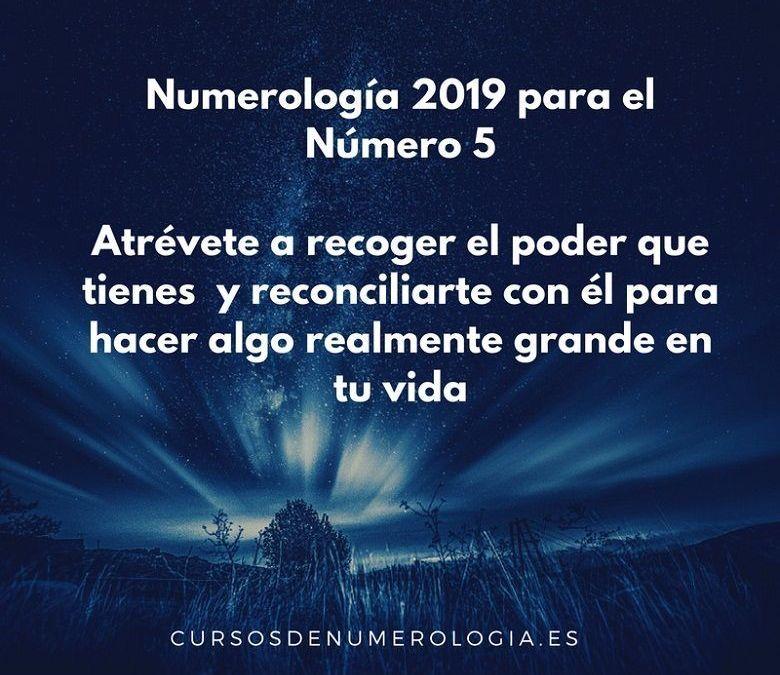 Año 2019 para el Número 5