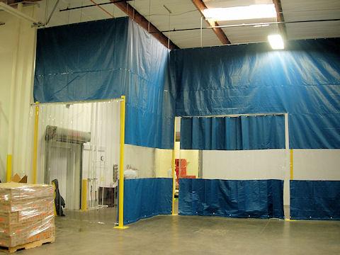 Industrial Curtain Walls Akon Curtain And Dividers Custom Made