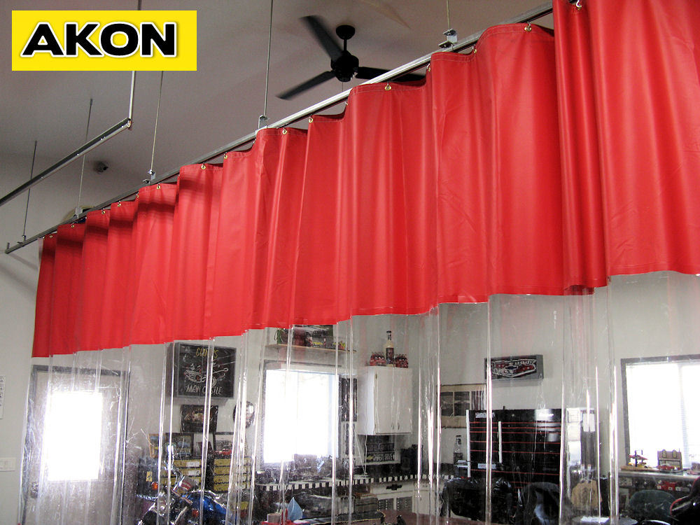 garage divider curtains photo gallery