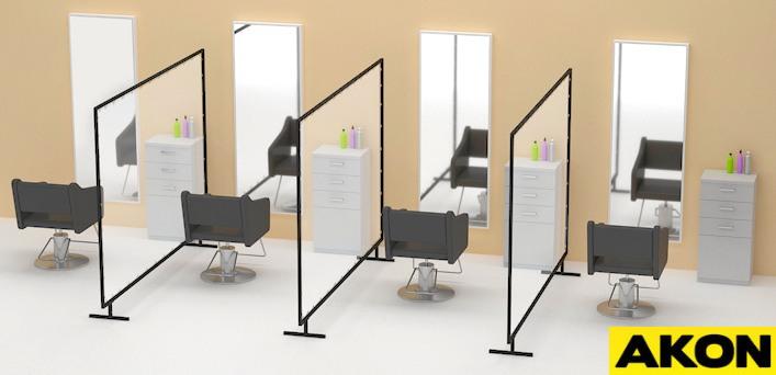 salon station dividers social distancing