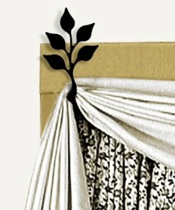 Leaf Swag Holders Curtain Brackets Support Top Curtains