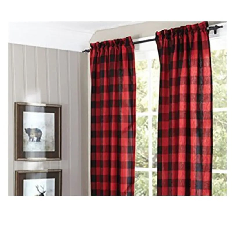 red-plaid-window-treatments