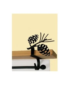 Pinecone Curtain Rod Brackets