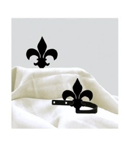 Fleur-de-lis Curtain Tie Backs