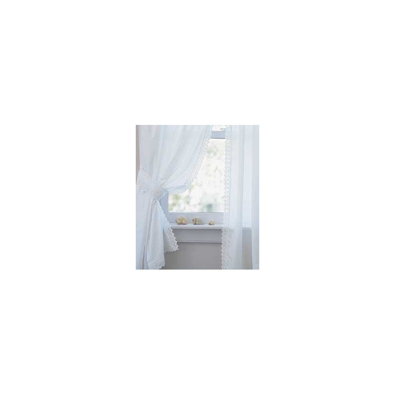 Pointed Lace Edging Perma Press Tailored Curtains