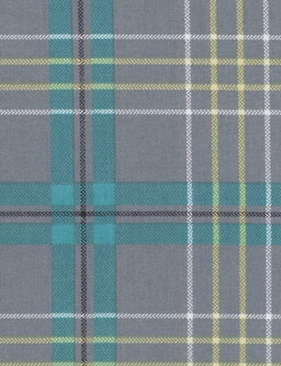 Buy Check Tealgrey Fabric By The Metre Next Made To Measure
