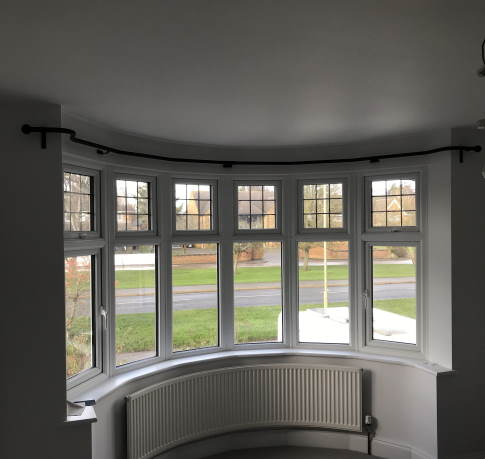 curved bay window curtain pole by s p