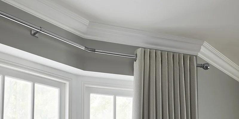 buy bay window curtain poles kits