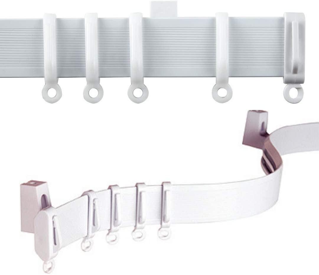 500cm plastic curtain track bay or straight windows