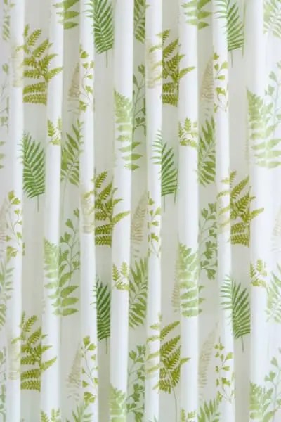 green and white curtain fabric cheaper