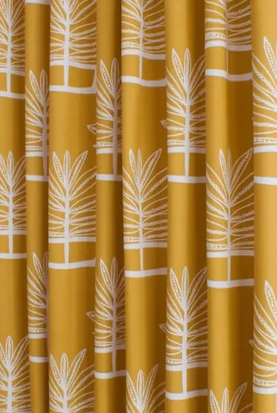 Valja Ochre Made To Measure Curtains
