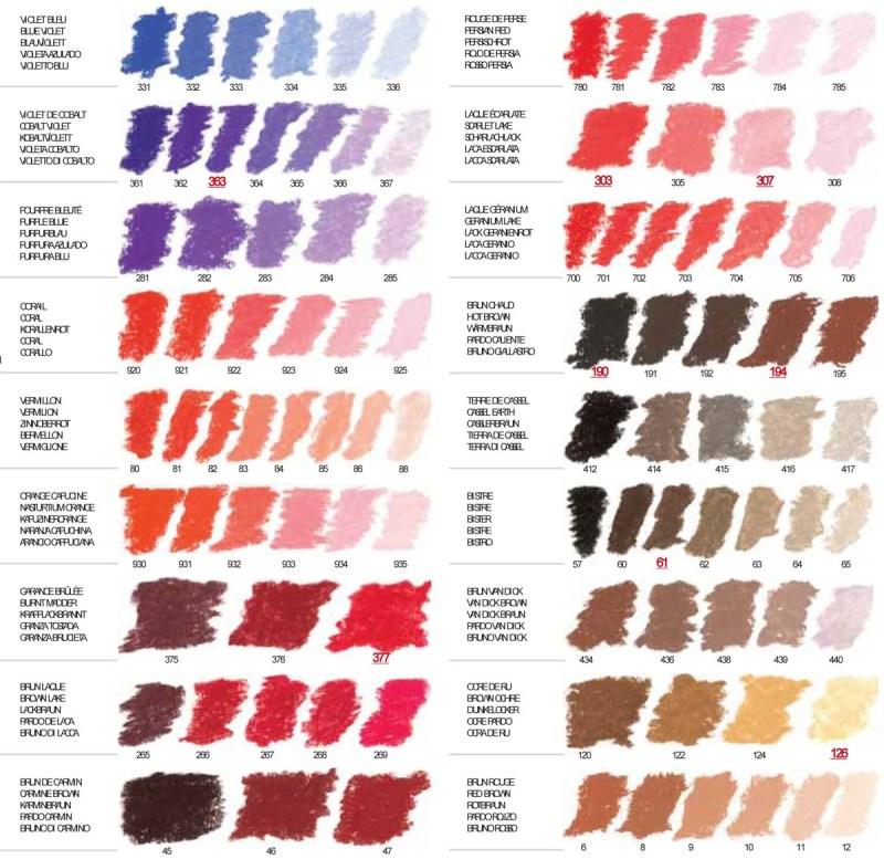Pastel Color Chart Coloringsite