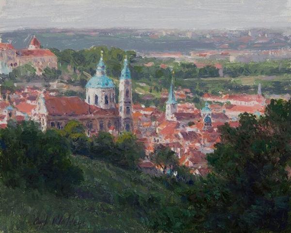 View of Little Quarter Church of St. Nicholas Prague by Curt Walters