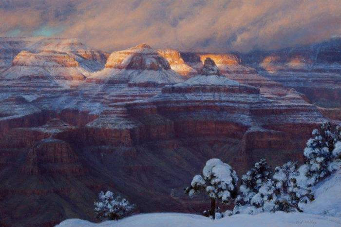 New Snow and Evening Light