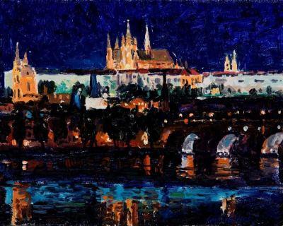 Prague - Charles Bridge Nocturne
