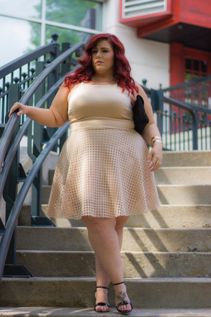 Plus Size Grid Fit and Flare