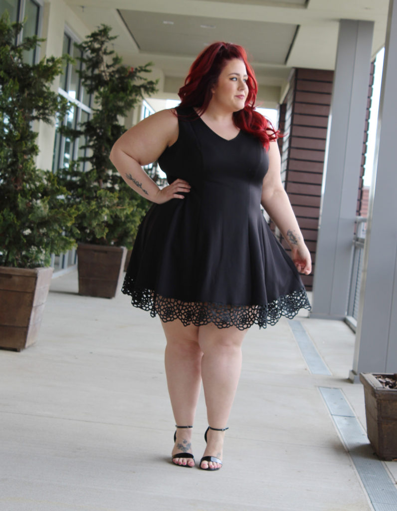 dressbarn Plus Size Little Black Dress | Curves, Curls and Clothes