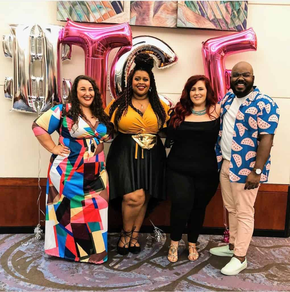 Blogger Famliy at The Curvy Fashionista Style Expo
