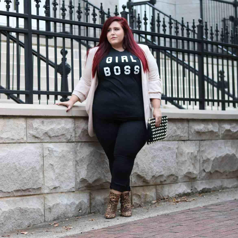 48b0acf414 Boohoo Fall Try On Haul Megan Hillard girl Boss