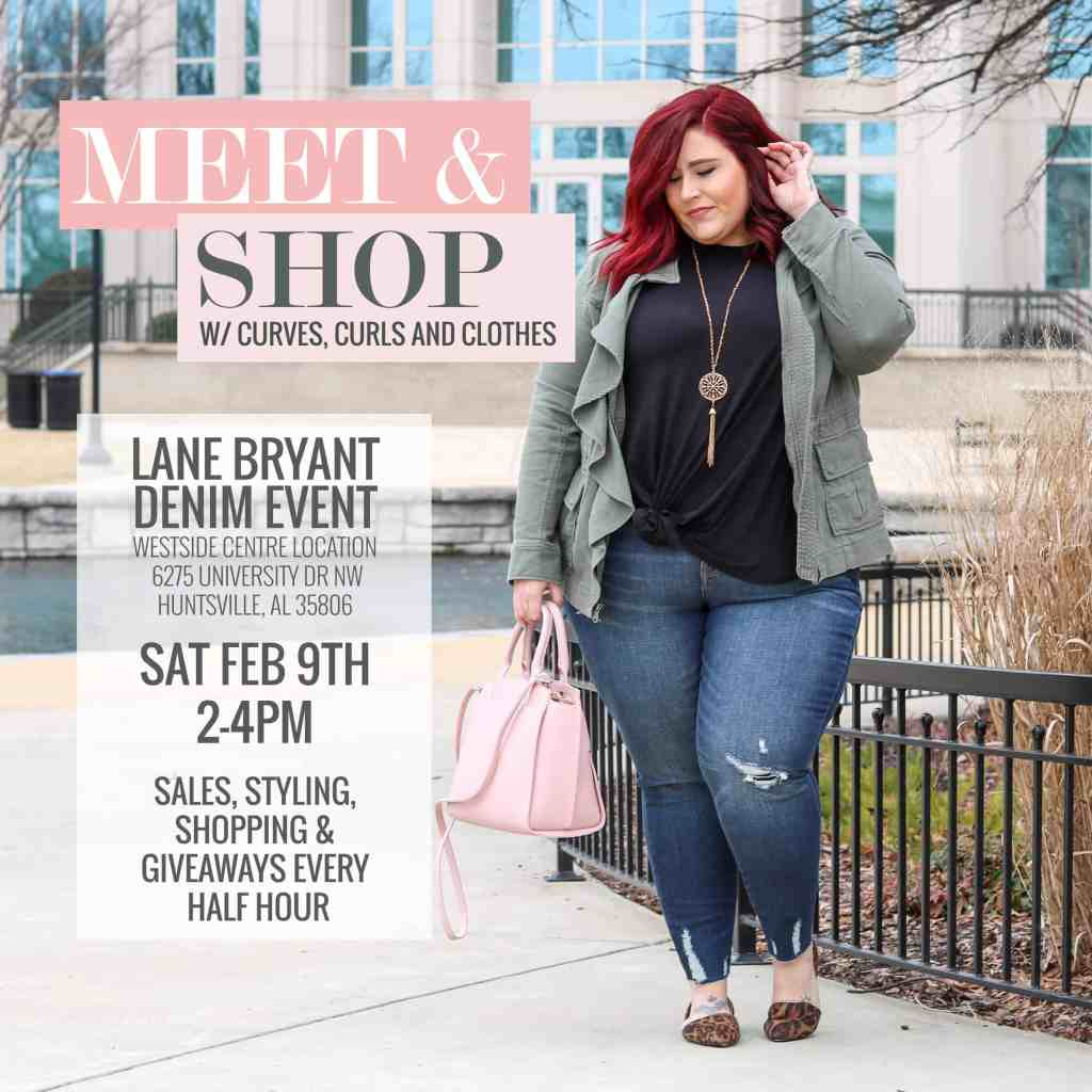 e45b44f560e2 Come out to my Meet & Shop Lane Bryant Denim Event this Saturday, Feb 9th  from 2-4pm! Here is a little flyer with all the deets for you to screen shot !