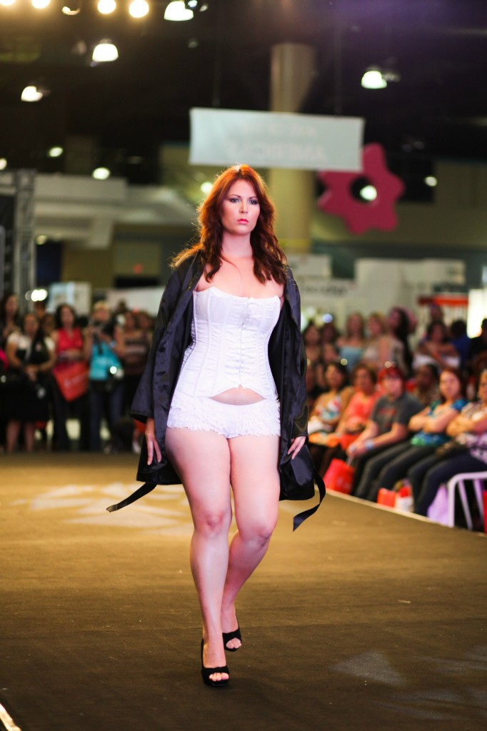 Plus Size Model Ana Garcia modeling for Blossom Boutique at Bridal Expo