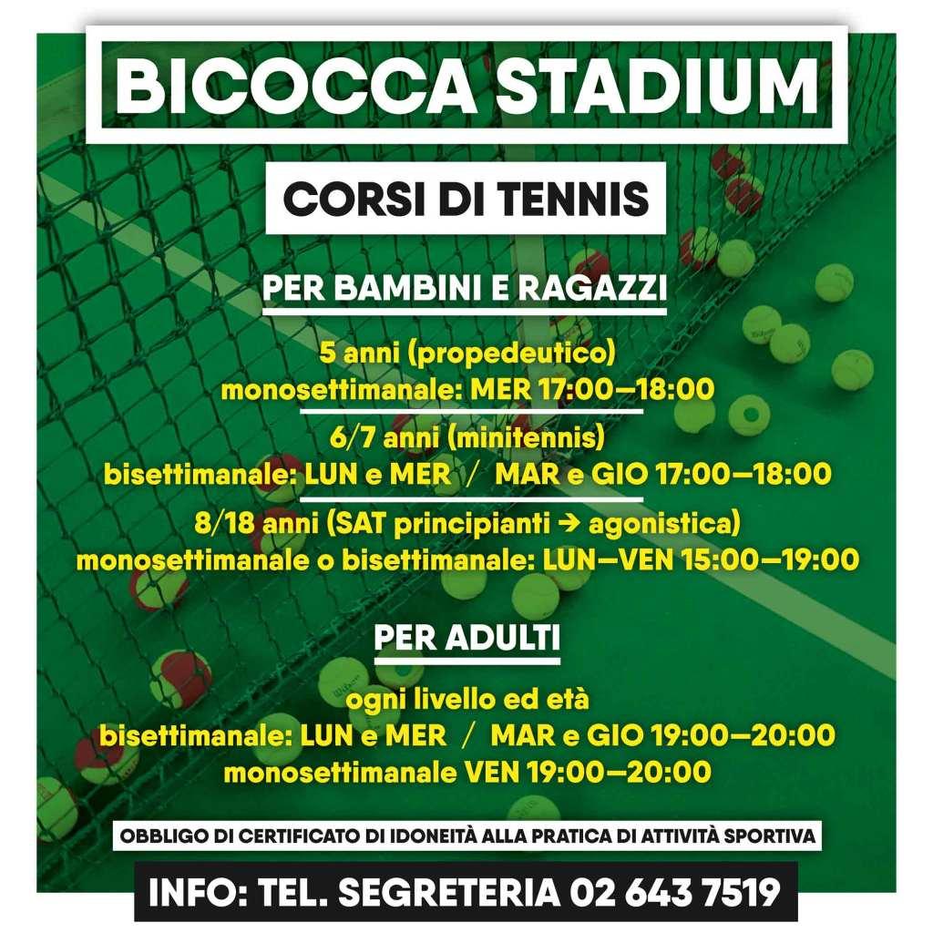 Corsi di tennis - Bicocca Stadium