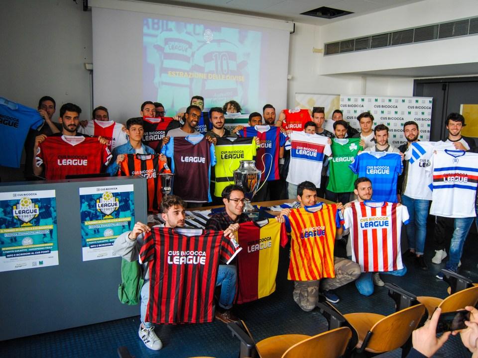 CUS Bicocca League 2019 - presentazione e divise
