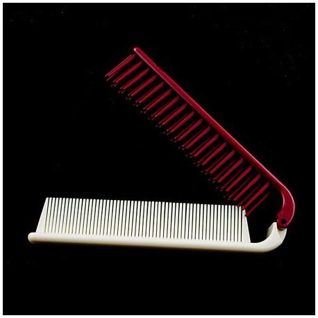 foldable dual hair brush b red