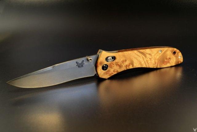 "Benchmade 710 custom scales ""golden"""