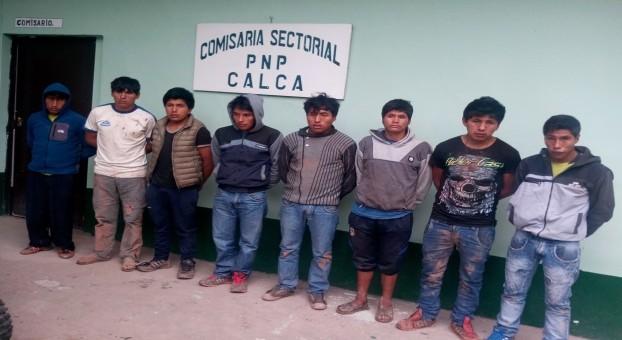 Calca: Detienen a 8 jóvenes por ser presuntos responsables de tentativa de homicidio
