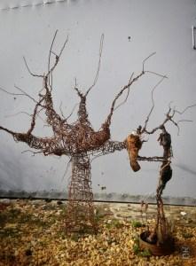 Première mise en forme de l'arbre avec sculpture pour l'échelle... Il fallait montrer à mes camarades le chemin que je voulais suivre.