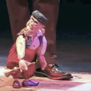 "This is a live performance of the ""Snake Charmer"" from The FRISCH MARIONETTE Company's ""Variety Show""."