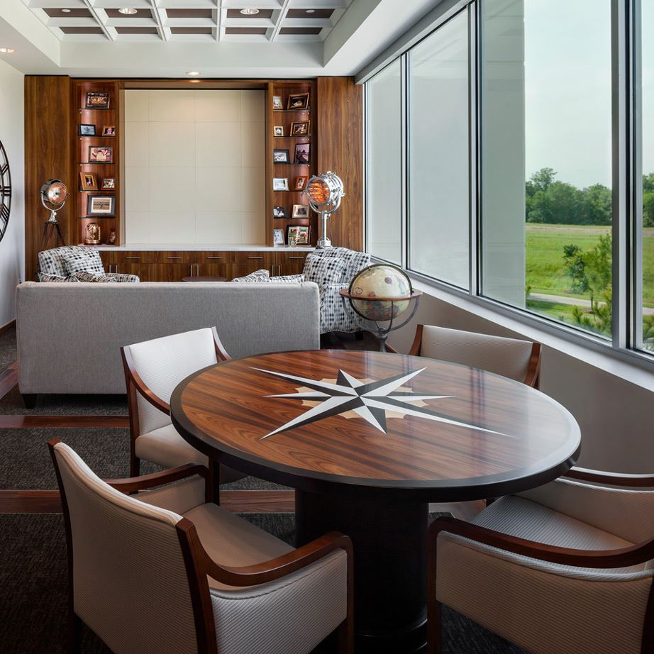 Round Conference Table With Logo Paul Downs Cabinetmakers