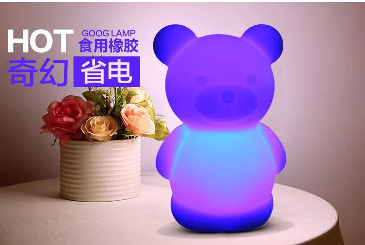 Led Nursery Mini Light Up Baby Night Light Multiple Animal Design