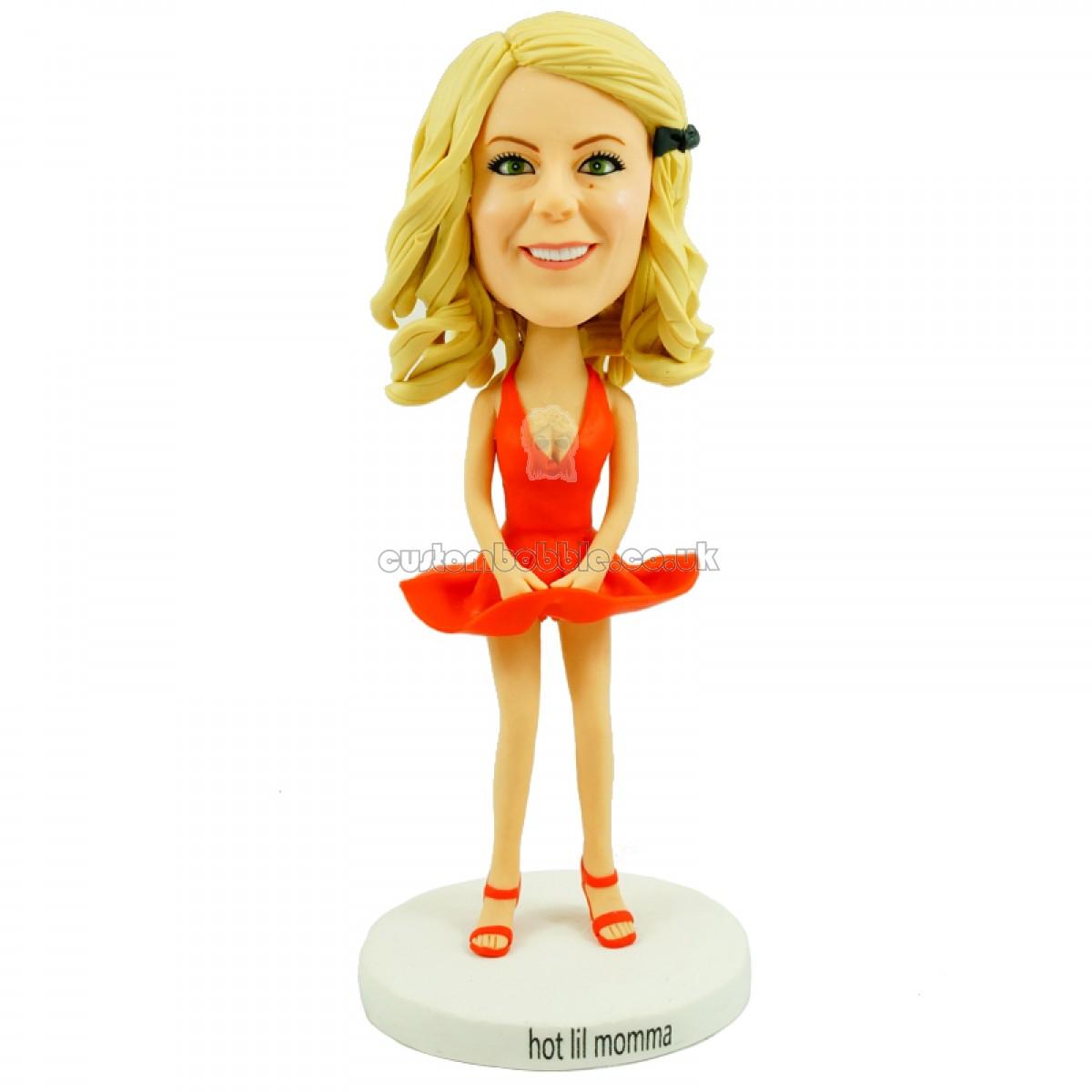 Lady Personalised Bobblehead