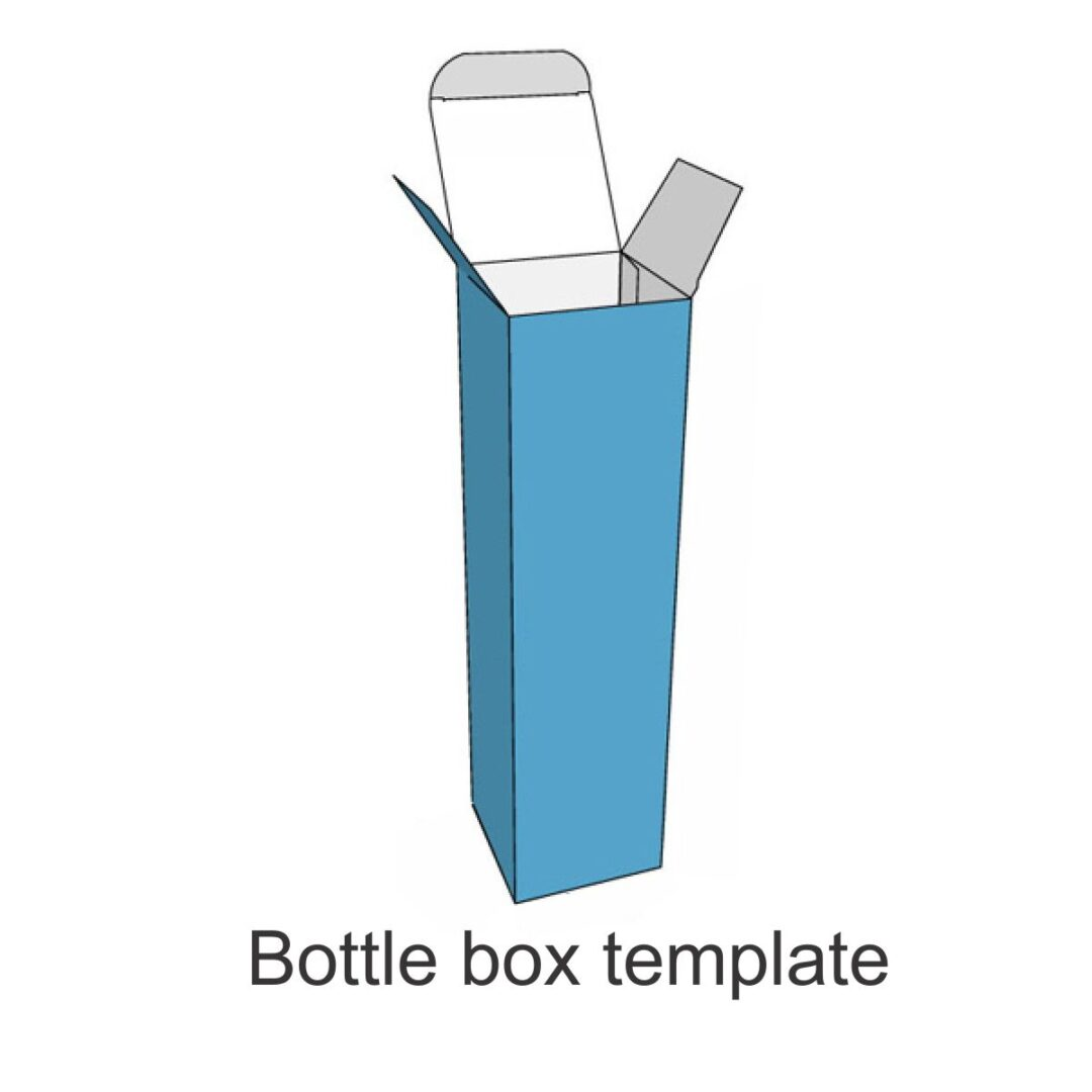 bottle box template