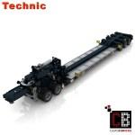 Custombricks De Lego Technic Model Custom Mack Low Boy Trailer Custombricks Moc Instruction