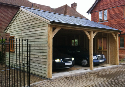 Bespoke Oak Carports Built To Last Custom Built Garden