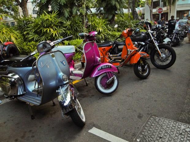 Classic and Vintage Vespa at Bali Lane