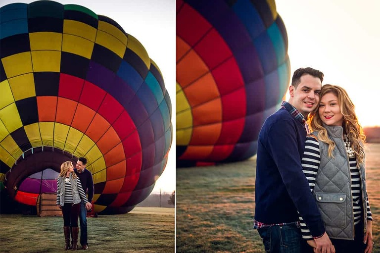 Hot Air Balloon Engagement Hudson Valley NY Liz Amp Rory Custom By Nicole Photography