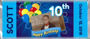 Birthday 1025 custom and personalized candy bar favor wrapper design
